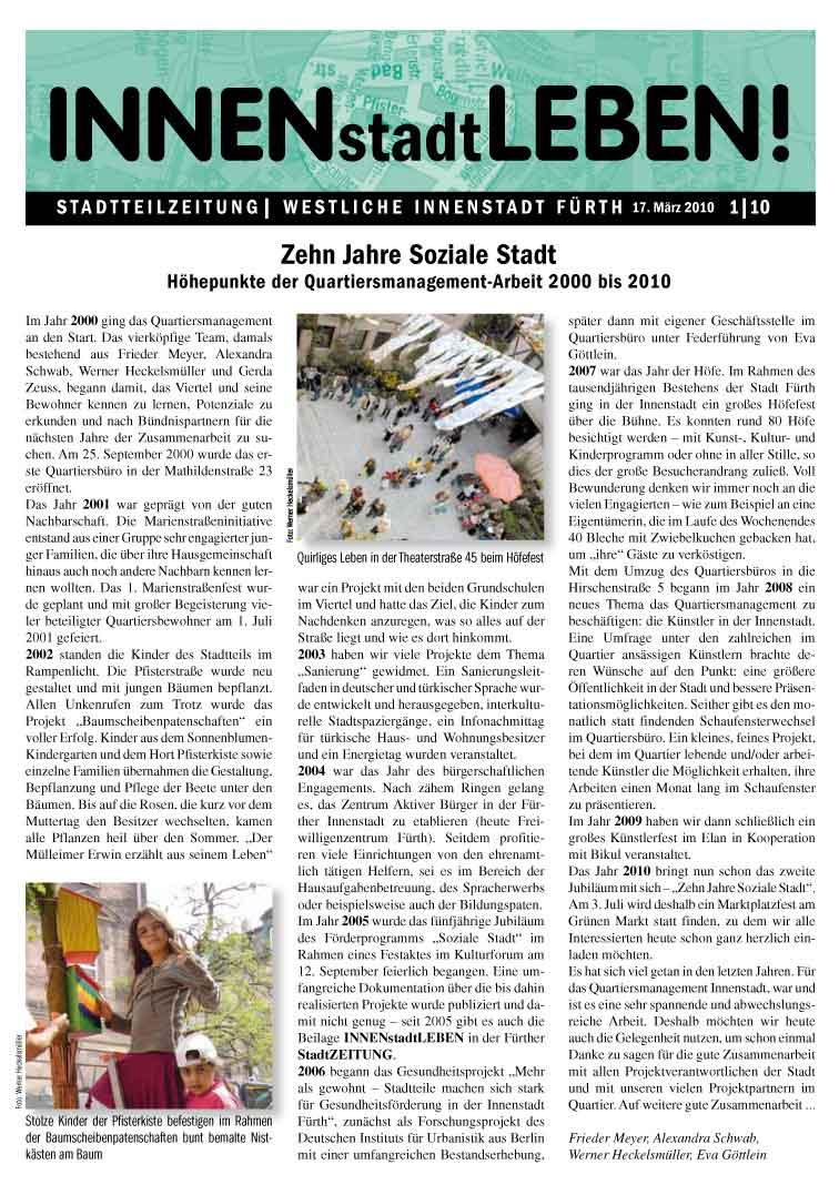 Stadtteilzeitung INNENstadtLEBEN