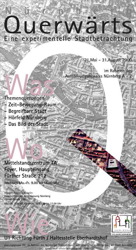 Nürnberg Querwärts, Ausstellung