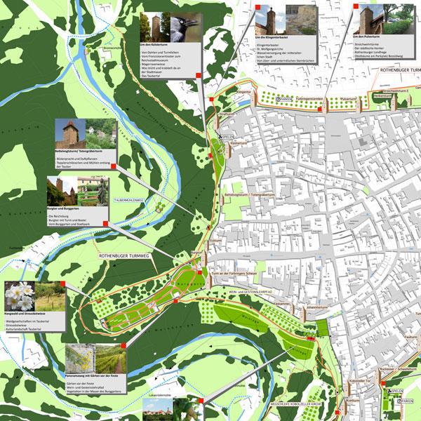 Freiflächen- und thematisches Rundwegekonzept, Rothenburg